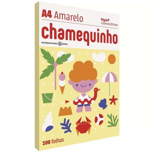 Papel-Sulfite-A4-Chamequinho-Amarelo-100-Folhas