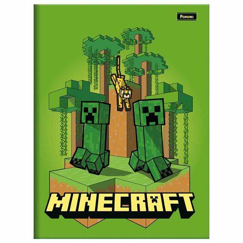 Caderno-14-Brochura-Minecraft-48-Folhas-Foroni-