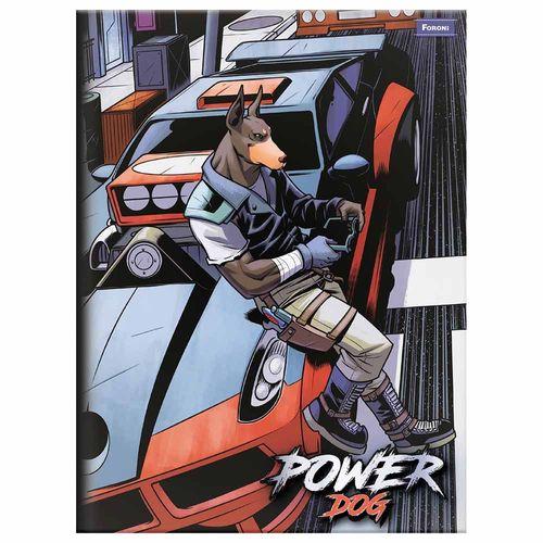 Caderno-Brochura-Power-Dog-96-Folhas-Foroni