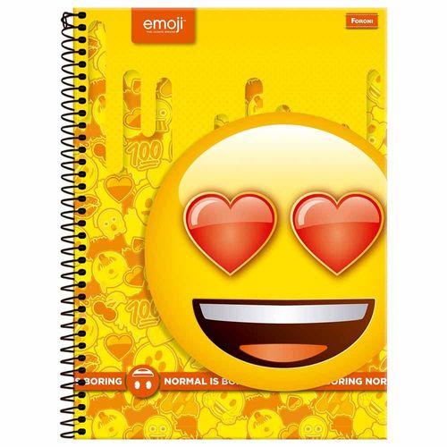 Caderno-Universitario-1-Materia-Emoji-96-Folhas-Foroni