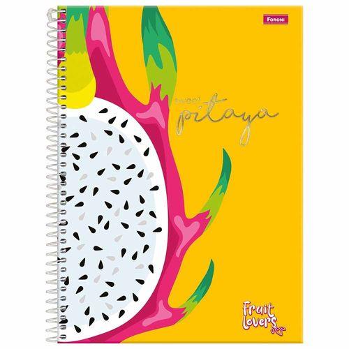 Caderno-Universitario-1-Materia-Fruit-Lovers-96-Folhas-Foroni