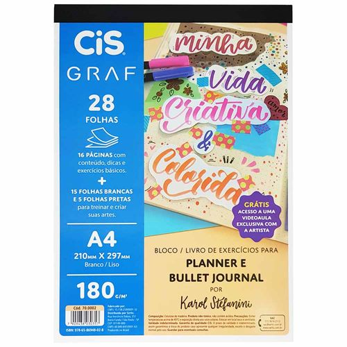 Bloco-para-Desenho-A4-180g-Planner-e-Bullet-Journal-Cis-Graf-28-Folhas