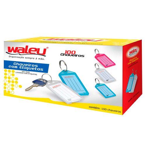 Chaveiro-com-Etiqueta-Organizador-Waleu-100-Unidades