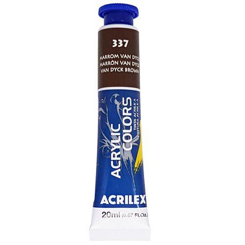 Tinta-Acrilica-Acrylic-Colors-20ml-337-Marrom-Van-Dyck-Acrilex