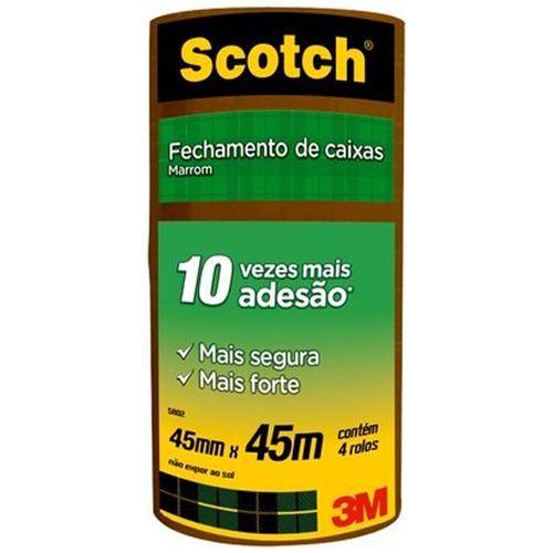 Fita-Adesiva-Marrom-45mm-x-45m-Scotch-3M-4-Unidades