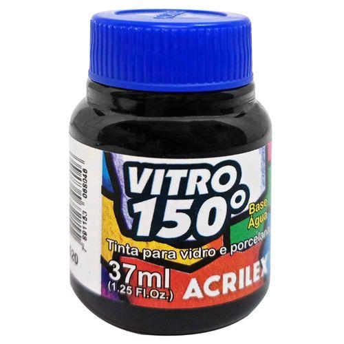 Tinta-Vitro-150°-37ml-520-Preto-Acrilex