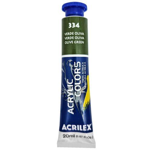 Tinta-Acrilica-Acrylic-Colors-20ml-334-Verde-Oliva-Acrilex