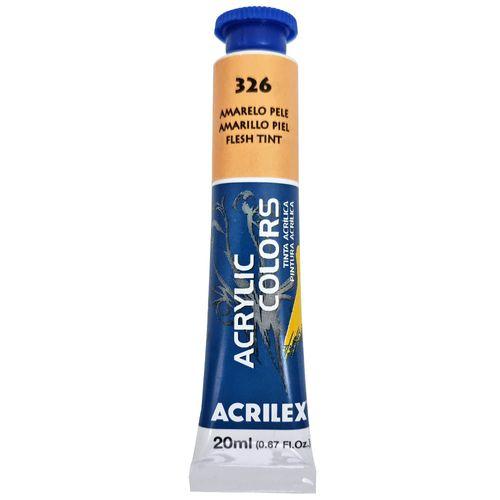 Tinta-Acrilica-Acrylic-Colors-20ml-326-Amarelo-Pele-Acrilex