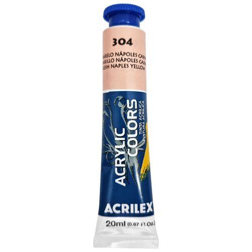 Tinta-Acrilica-Acrylic-Colors-20ml-304-Amarelo-Napoles-Carne-Acrilex