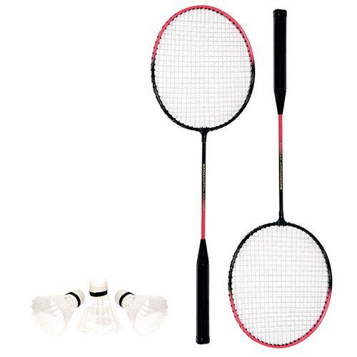 Kit-Badminton-Raquete-e-Peteca-Vermelho-Art-Sport